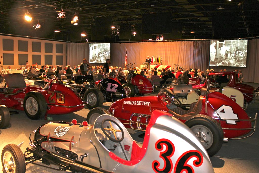 2011 Racers Reunion Banquet cars on display