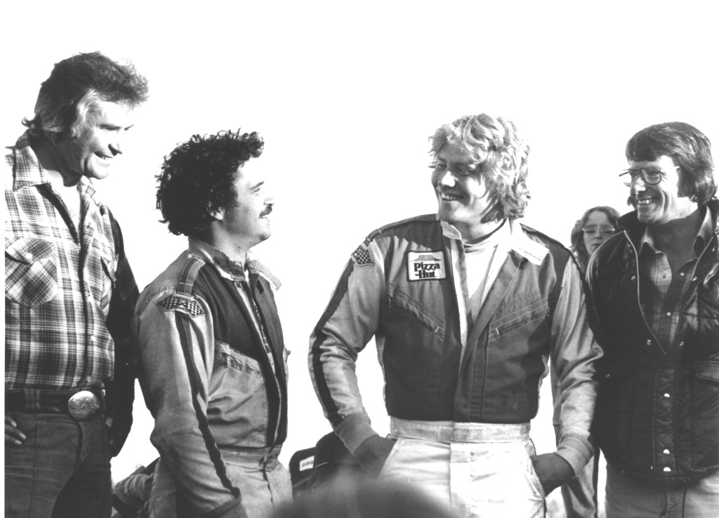 John Mahoney Collection-Rick Ferkel, S. Carson, S. Kinser and Ted Johnson-S. Carson 1st  WoO finale win Oct 78 Eldora